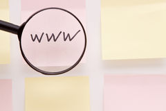 Www On Post It Note Royalty Free Stock Photos