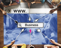 WWW Online Homepage Business Word Search Concept Stock Image