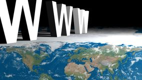 www over map of Earth stock photography