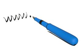 WWW and pen, 3D Stock Photo