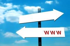 WWW-Pfeil Signpost stock abbildung
