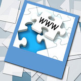 WWW Photo Means Internet Website Or Network Stock Photography