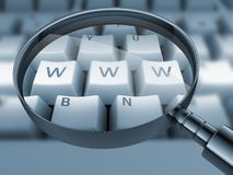 Www printed on keyboard, Stock Images