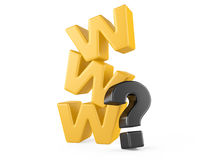 Www and question mark Royalty Free Stock Photos