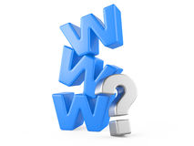 Www and question mark Royalty Free Stock Photo