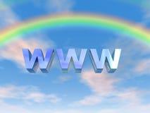 WWW Rainbow. WWW text under a rainbow