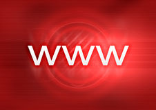 WWW Red. WWW on abstract red background Stock Photos