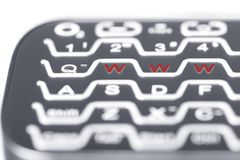 WWW in red on keyboard. Royalty Free Stock Photos