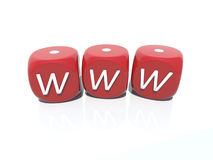 Www red plastic casino gambling dice Royalty Free Stock Photography