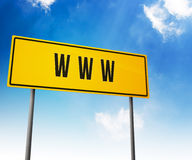 Www on Road Sign Stock Photography