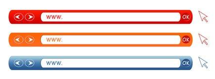 WWW. Samenstellingen - Diverse Kleuren Royalty-vrije Stock Afbeelding