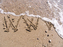 WWW on sand Royalty Free Stock Photo
