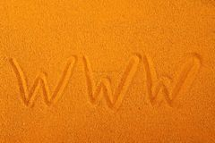 Www on the sand Stock Image