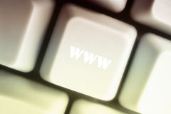 WWW schloß an Lizenzfreie Stockfotografie