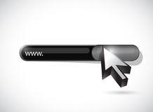Www search bar illustration design Stock Images