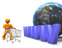 WWW Shopping 3D Stock Images