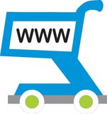 Www shopping cart Royalty Free Stock Image