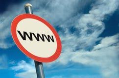 WWW Signage Stock Photo