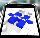 WWW On Smartphone Showing Internet Browsing Royalty Free Stock Photo
