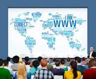 WWW Social Media Internet Connection Global Networking Concept Royalty Free Stock Photos