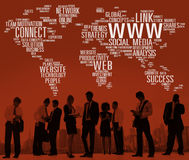 Www Social Media Internet Global Communications Concept Royalty Free Stock Photography