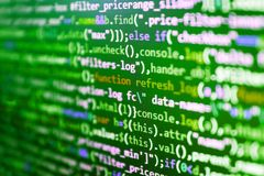 Developer working on websites codes. WWW software development. Developer working on websites codes royalty free stock photos