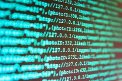WWW software development. Software development. Python programming developer code. Source code close-up. stock photography