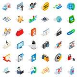WWW spam icons set, isometric style. WWW spam icons set. Isometric style of 36 www spam vector icons for web isolated on white background Royalty Free Stock Images