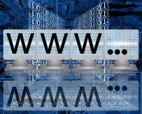 WWW sugli schermi dei monitor Fotografie Stock Libere da Diritti