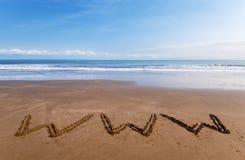 WWW sulla sabbia 2 Fotografie Stock Libere da Diritti