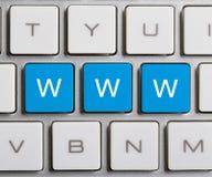 WWW sulla tastiera Fotografie Stock