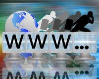 WWW sur des écrans des moniteurs Photos libres de droits