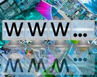 WWW sur des écrans des moniteurs Photo stock