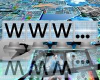 WWW sur des écrans des moniteurs Photographie stock