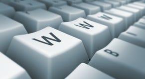 WWW sur le clavier Photos libres de droits