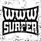 WWW surfer t shirt typography graphics grunge Royalty Free Stock Photo