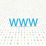 WWW symbol on a digital background. Vector illustration Royalty Free Stock Image