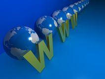 WWW symbol for internet Stock Photo