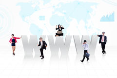 Business Internet people Stock Photos