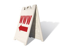 WWW Tent Sign. Isolated on a White Background Stock Image