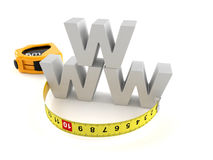 WWW text with meausring tape Stock Photography