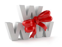 WWW text with ribbon Stock Photos