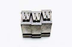 WWW - tipo del metallo Immagini Stock