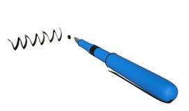 WWW und Stift, 3D Stockfoto