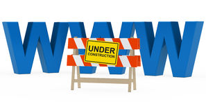 Www under construction Royalty Free Stock Image