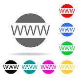 Www web icon. Elements in multi colored icons for mobile concept and web apps. Icons for website design and development, app devel. Opment on white background Royalty Free Stock Photography