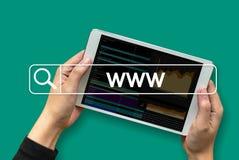 WWW-Web-pagina van Website Online Internet computerbrowser Verbinding Stock Afbeelding