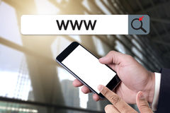 WWW-Web-pagina van Website Online Internet computerbrowser Verbinding Royalty-vrije Stock Fotografie