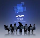 WWW-Web-pagina van Website Online Internet Concept Stock Afbeeldingen