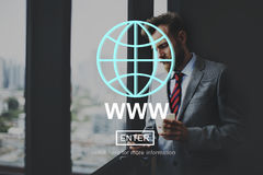 WWW Website Internet Network Connection Social Concept royalty free stock photo